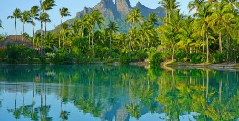 Mont Otemanu in Bora Bora, French Polynesia, South Pacific